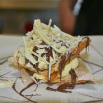 Sbriciolata con crema chantilly e nutella/fragole
